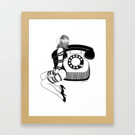 Waiting for your call Framed Art Print