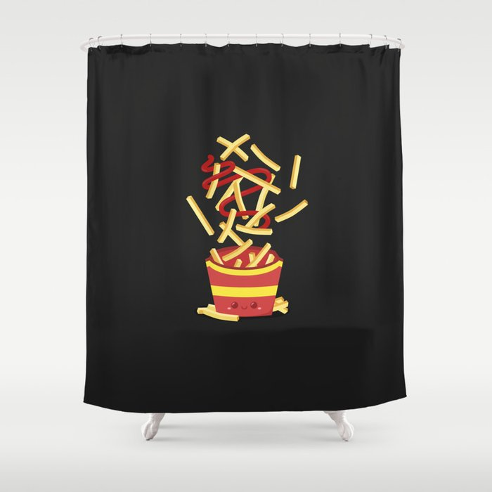 Extreme French Fry Making Shower Curtain