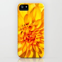 Yellow Macro Flower iPhone Case