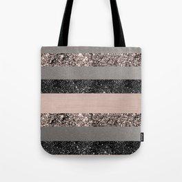 Blush Glitter Glam Stripes #1 #shiny #decor #art #society6 Umhängetasche