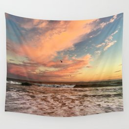 Cotton Candy Sunset Wall Tapestry