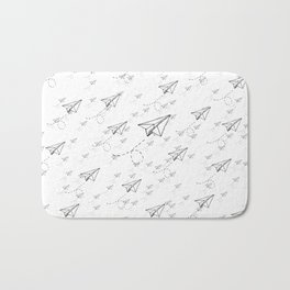 Paper Airplane 9 Bath Mat