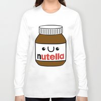 nutella Long Sleeve T-shirts featuring Nutella Monster by Tushietweet