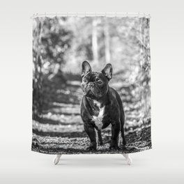 Monty the Frenchy Shower Curtain