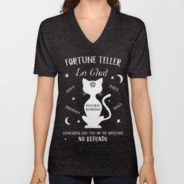 Fortune Teller Psychic Cat Unisex V-Neck