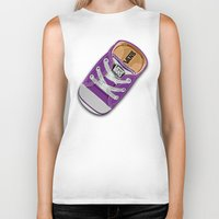 vans Biker Tanks featuring Cute Purple Vans all star baby shoes apple iPhone 4 4s 5 5s 5c, ipod, ipad, pillow case and tshirt by Three Second