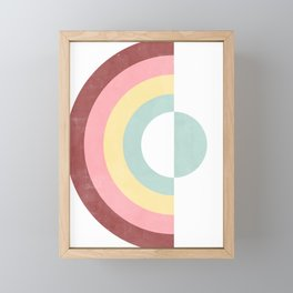 Circular Rainbow Framed Mini Art Print