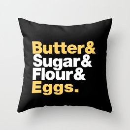 The Fab 4 - Baking (colour) Throw Pillow