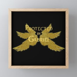 Protected by Gabriel Framed Mini Art Print