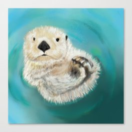 You Otter Chill Canvas Print