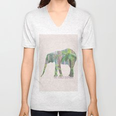 The Lonely Elephant Unisex V-Neck