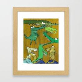 crocs and gators Framed Art Print