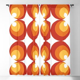 60s 70s funky retro pattern - red orange yellow Blackout Curtain
