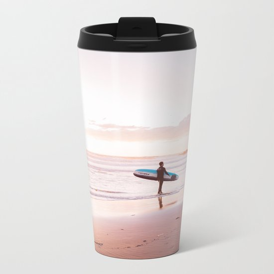 Venice Beach Surfer Metal Travel Mug