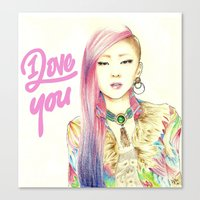 2ne1 Canvas Prints featuring I Love You Everyday by Orionebula