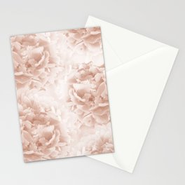 Soft Terracotta Peonies Dream #1 #floral #decor #art #society6 Stationery Cards
