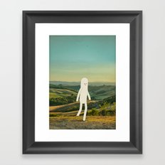 walking in tuscany Framed Art Print