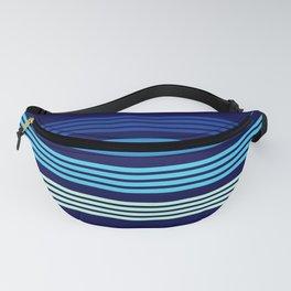 Naotomo - Blue Classic Retro Stripes Fanny Pack