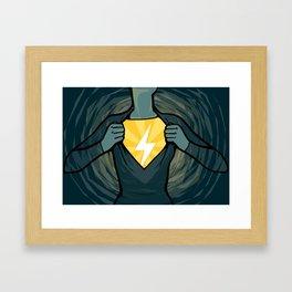 Not-so-secret Identity Framed Art Print