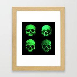 Skull quartet green Framed Art Print