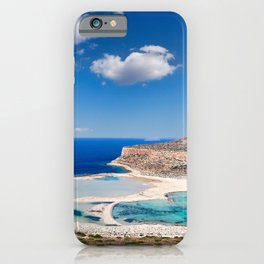 The unbelievable beauty of Balos Lagoon with Cap Tigani in Crete, Greece iPhone Case