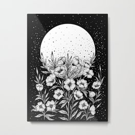 Moon Greeting Metal Print