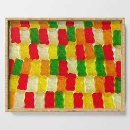 Colorful gummi bears Serving Tray