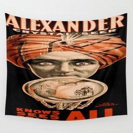 Vintage poster - Alexander, Crystal Seer Wall Tapestry