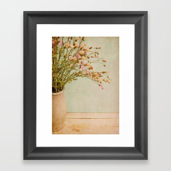 still life with thistles Framed Art Print