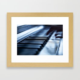 Musician play piano Framed Art Print