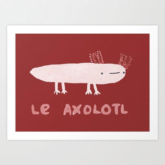 Le Axolotl Art Print