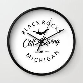 Cliff Jumping Shirt Michigan Cliff Diver TShirt Black Rocks Cliff Diving T Shirt Wall Clock