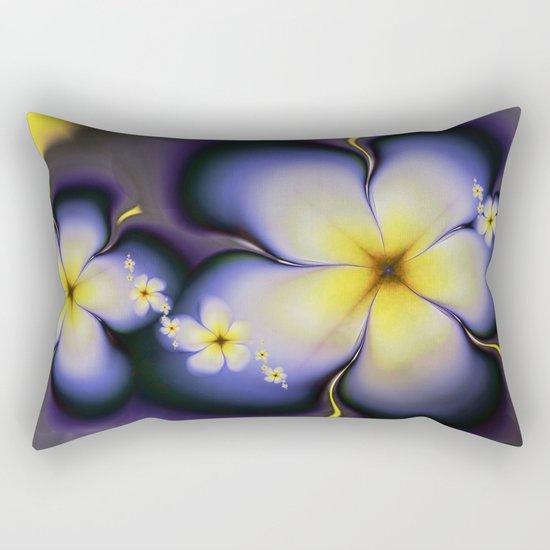 Petite Fleur Jaune Fractal Rectangular Pillow
