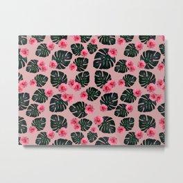 Tropical pattern n.1 - pink Metal Print