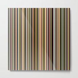 Old Skool Stripes - The Dark Side Metal Print