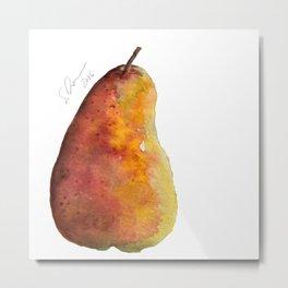 Pear by Scarlett Damen Metal Print