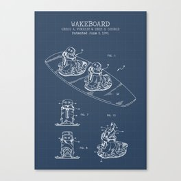 Wakeboard blueprint Canvas Print