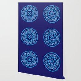 Mandala 010 Blue Mix Wallpaper