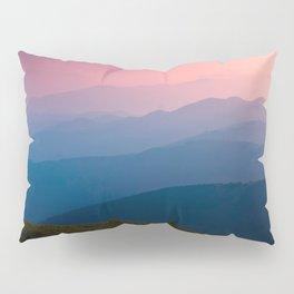 Pink & Blue Mountains Pillow Sham