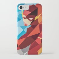 dc comics iPhone & iPod Cases featuring DC Comics Flash by Eric Dufresne