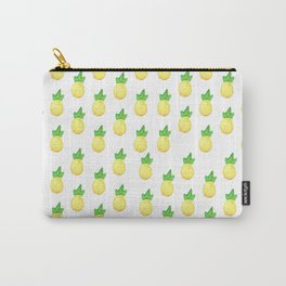 Tropical watercolor green yellow hand painted pineapple Carry-All Pouch