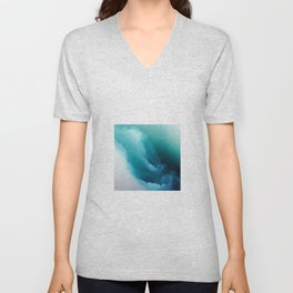 """Inner Calm"" Turquoise Modern Contemporary Abstract Unisex V-Neck"
