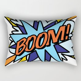 Comic Book Pop Art BOOM Rectangular Pillow
