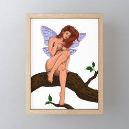 Tree Fairy NoBG Framed Mini Art Print
