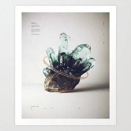 Crystal Study Art Print