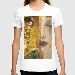 Gustav Klimt portrait The Kiss & The Golden Tears (Freya's Tears) No. 1 T-shirt