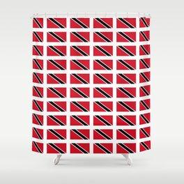 flag of trinidad and Tobago -Trinidad,Tobago,Trinidadian,Tobagonian,Trini,Chaguanas. Shower Curtain