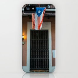 The flag of Puerto Rico iPhone Case