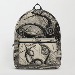 "The octopus; or, The ""Devil-fish"" - Henry Lee - 1875 Giant Octopus Sinking Ship Backpack"