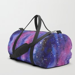 Nebula Galaxy Watercolor Space Sky Duffle Bag